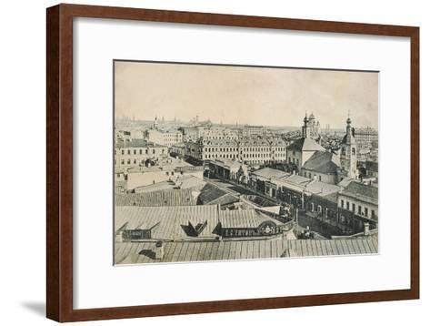 View of the Arbat in Moscow, Russia, Late 19th or Early 20th Century--Framed Art Print