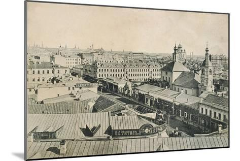 View of the Arbat in Moscow, Russia, Late 19th or Early 20th Century--Mounted Giclee Print