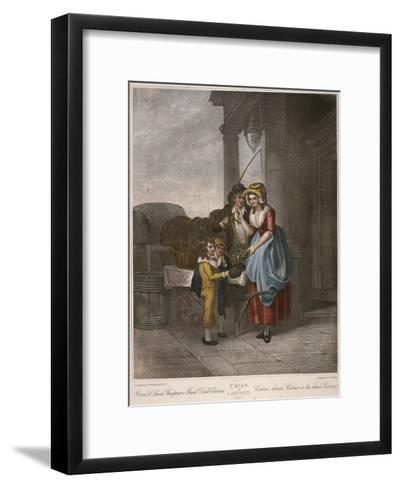 Round and Sound Fivepence a Pound Duke Cherries, Cries of London, C1870-Francis Wheatley-Framed Art Print