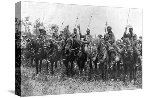 Indian Cavalry after their Charge, Somme, France, First World War, 14 July 1916--Stretched Canvas Print