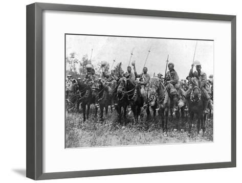 Indian Cavalry after their Charge, Somme, France, First World War, 14 July 1916--Framed Art Print