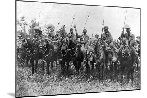 Indian Cavalry after their Charge, Somme, France, First World War, 14 July 1916--Mounted Giclee Print