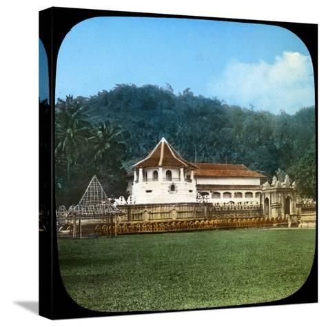 Temple of the Sacred Tooth, Kandy, Ceylon, Late 19th or Early 20th Century--Stretched Canvas Print