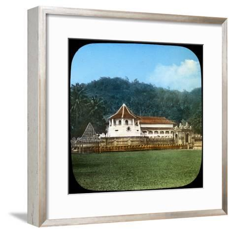 Temple of the Sacred Tooth, Kandy, Ceylon, Late 19th or Early 20th Century--Framed Art Print