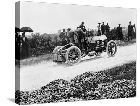 Mercedes 60 Hp Climbing a Hill on the Paris-Madrid Race, 1903--Stretched Canvas Print