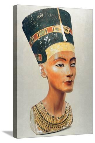 Bust of Nefertiti, Queen and Wife of the Ancient Egyptian Pharaoh Akhenaten (Amenhotep I)--Stretched Canvas Print