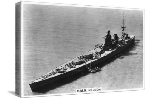 Battleship HMS Nelson, 1937--Stretched Canvas Print