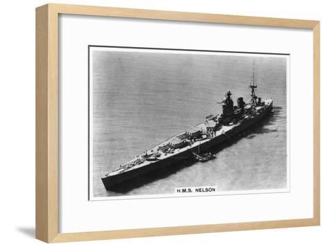 Battleship HMS Nelson, 1937--Framed Art Print