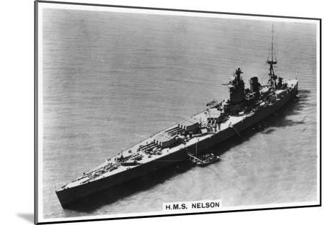 Battleship HMS Nelson, 1937--Mounted Giclee Print