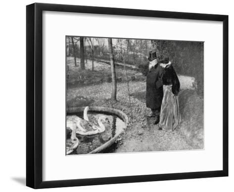 Auguste Rodin, French Sculptor, 1895--Framed Art Print