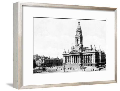 Guildhall, Portsmouth, Hampshire, Early 20th Century--Framed Art Print