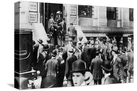 Anxious Crowds Outside the White Star Line Office, 1912-Sport & General-Stretched Canvas Print