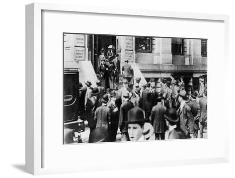 Anxious Crowds Outside the White Star Line Office, 1912-Sport & General-Framed Art Print
