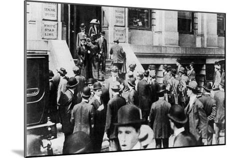 Anxious Crowds Outside the White Star Line Office, 1912-Sport & General-Mounted Giclee Print