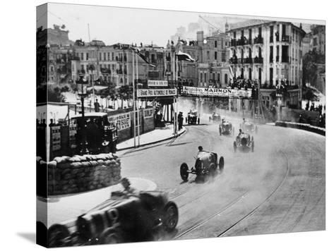 Action from the Monaco Grand Prix, 1929--Stretched Canvas Print