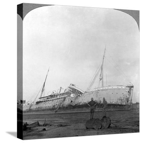 German Cruiser Sunk Off Dar Es Salaam, Tanzania, World War I, 1914-1918--Stretched Canvas Print