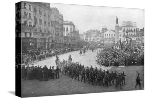 Lille Being Liberated by the British 5th Army, France, 17 October 1918--Stretched Canvas Print