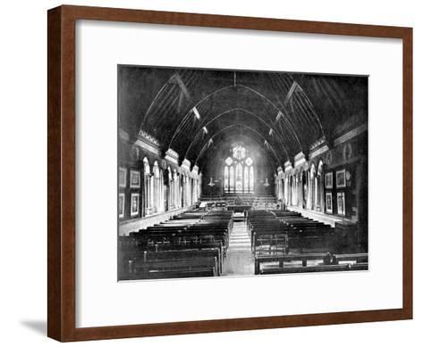 Schoolroom, Uppingham, Rutland, 1924-1926-Valentine & Sons-Framed Art Print