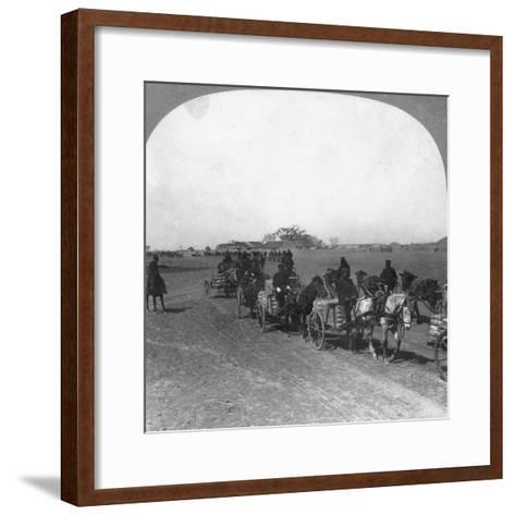 Japanese Military Transportation Train, Manchuria, 1906--Framed Art Print