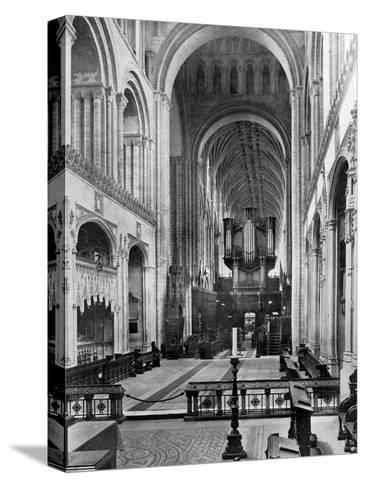 The Choir, Norwich Cathedral, 1924-1926- Francis & Co Frith-Stretched Canvas Print