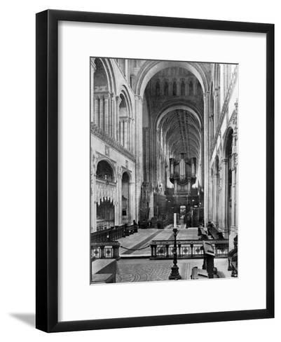 The Choir, Norwich Cathedral, 1924-1926- Francis & Co Frith-Framed Art Print