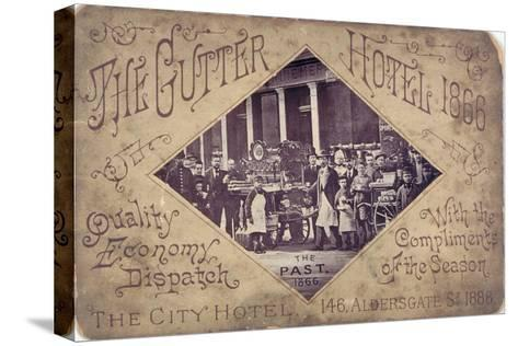 The Gutter Hotel, Aldersgate Street, City of London, 1866--Stretched Canvas Print