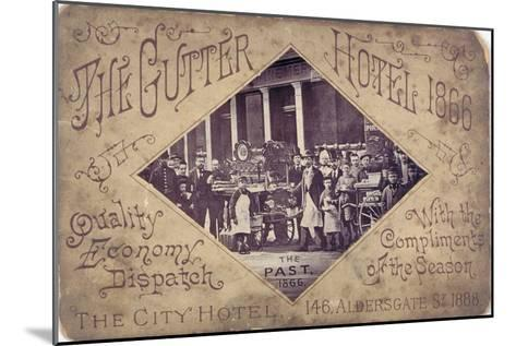 The Gutter Hotel, Aldersgate Street, City of London, 1866--Mounted Giclee Print