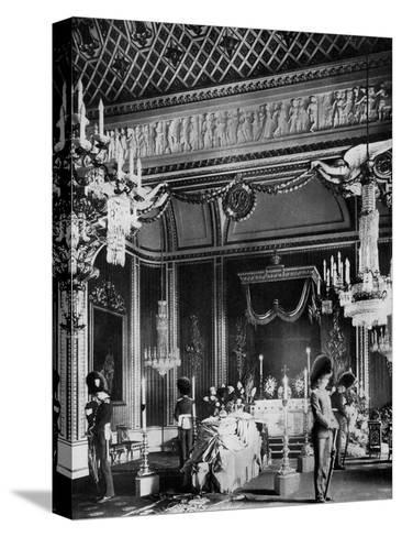 Edward VII Lying in State, Throne Room, Buckingham Palace, London, 1910--Stretched Canvas Print