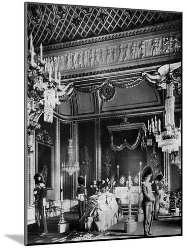 Edward VII Lying in State, Throne Room, Buckingham Palace, London, 1910--Mounted Giclee Print