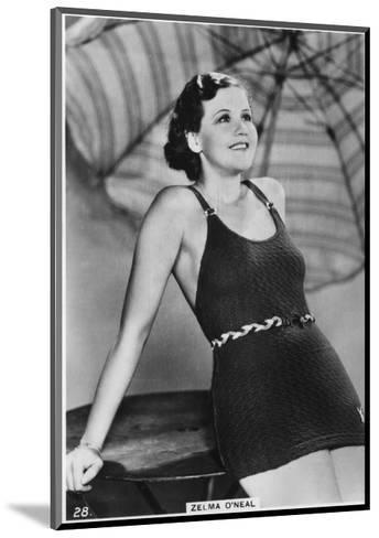 Zelma O'Neal, American Actress, Singer, and Dancer, C1938--Mounted Giclee Print