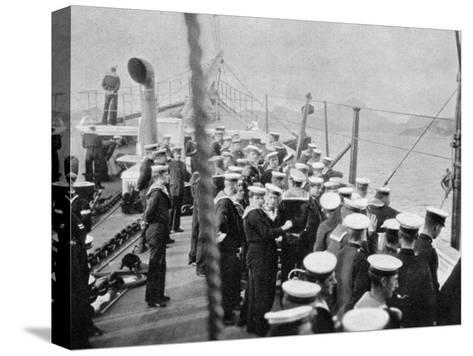 The Crew of the Royal Yacht Victoria and Albert III, Norway, 1904--Stretched Canvas Print