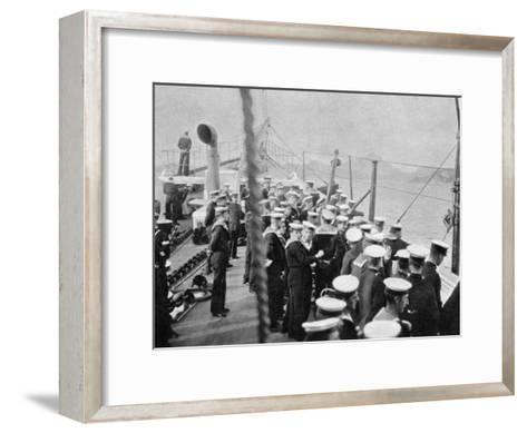 The Crew of the Royal Yacht Victoria and Albert III, Norway, 1904--Framed Art Print