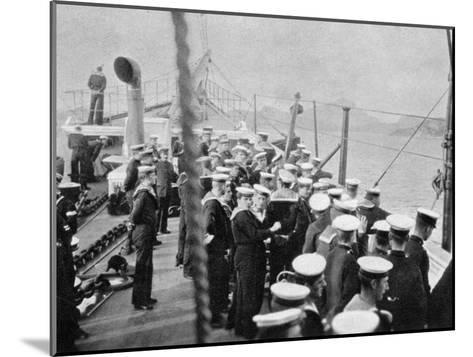 The Crew of the Royal Yacht Victoria and Albert III, Norway, 1904--Mounted Giclee Print