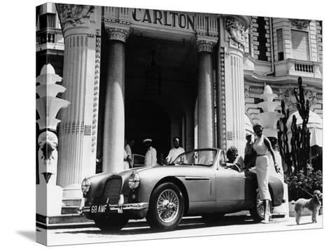 Aston Martin DB2-4 Outside the Hotel Carlton, Cannes, France, 1955--Stretched Canvas Print