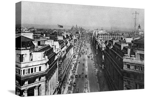 On the Roof of Bush House, Looking from Kingsway Towards the Nothern Hights, London, 1926-1927--Stretched Canvas Print