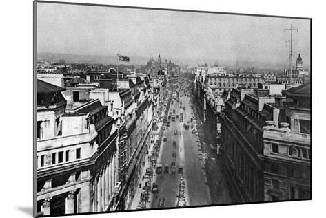 On the Roof of Bush House, Looking from Kingsway Towards the Nothern Hights, London, 1926-1927--Mounted Giclee Print