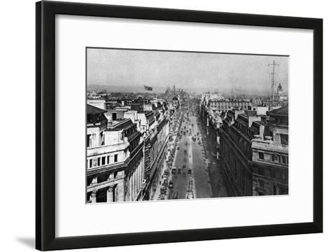 On the Roof of Bush House, Looking from Kingsway Towards the Nothern Hights, London, 1926-1927--Framed Art Print