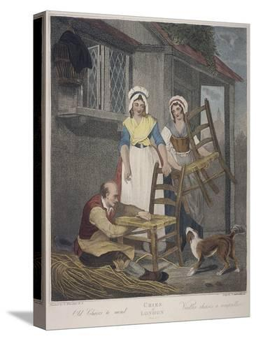 Old Chairs to Mend, Cries of London, C1870-Francis Wheatley-Stretched Canvas Print