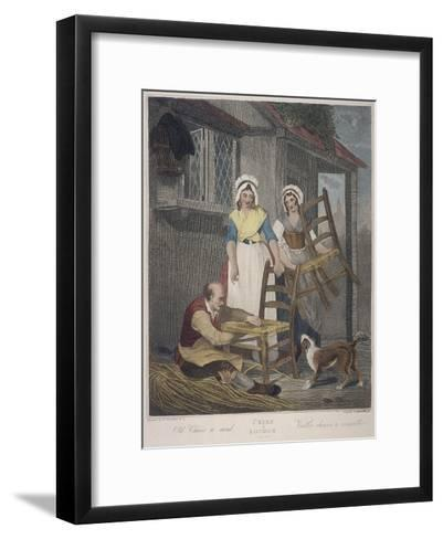 Old Chairs to Mend, Cries of London, C1870-Francis Wheatley-Framed Art Print