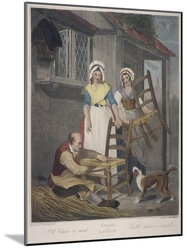 Old Chairs to Mend, Cries of London, C1870-Francis Wheatley-Mounted Giclee Print
