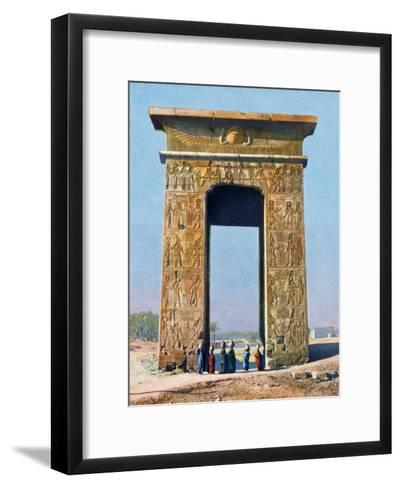Gateway to the Temple Complex of Karnak, Luxor, Egypt, 20th Century--Framed Art Print