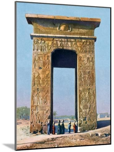 Gateway to the Temple Complex of Karnak, Luxor, Egypt, 20th Century--Mounted Giclee Print