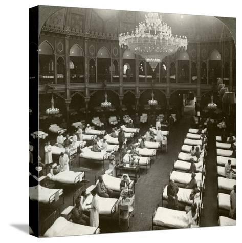 Interior of the Commodious Hospital at Brighton, Sussex, World War I, 1914-1918--Stretched Canvas Print