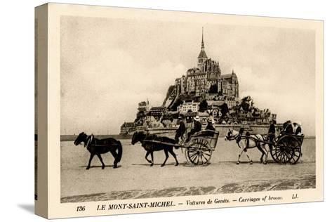 Mont-Saint-Michel, Normandy, France, Early 20th Century--Stretched Canvas Print