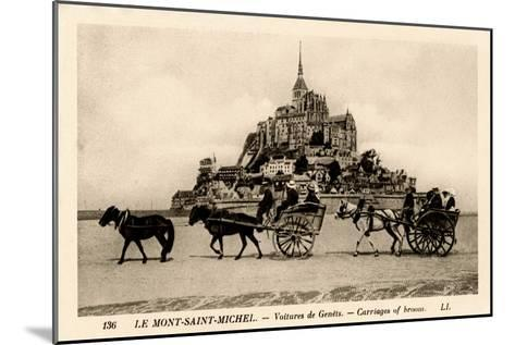 Mont-Saint-Michel, Normandy, France, Early 20th Century--Mounted Giclee Print