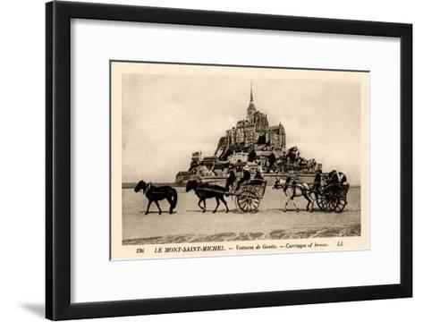 Mont-Saint-Michel, Normandy, France, Early 20th Century--Framed Art Print