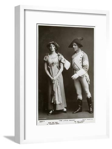 Iris Hoey and Jack Cannot, British Actors, C1908--Framed Art Print