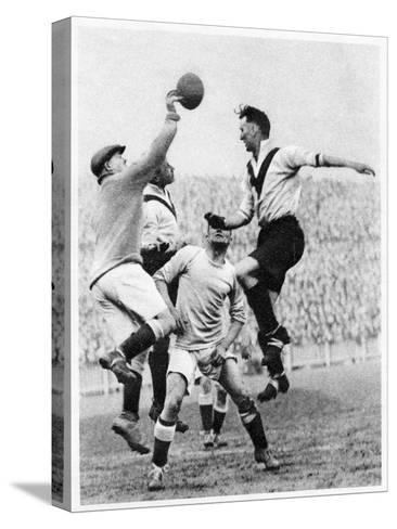 Goalmouth Action at Clapton Orient, London, 1926-1927--Stretched Canvas Print
