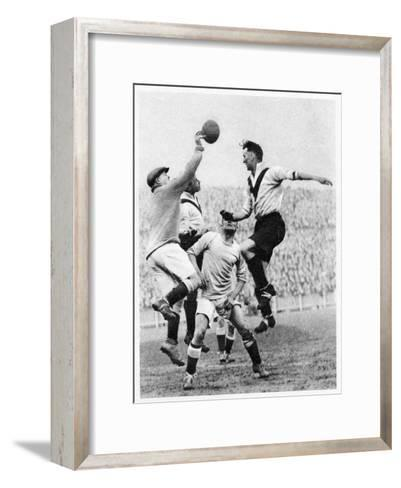 Goalmouth Action at Clapton Orient, London, 1926-1927--Framed Art Print