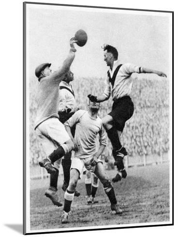 Goalmouth Action at Clapton Orient, London, 1926-1927--Mounted Giclee Print